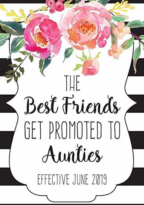 """BFF to Aunties"" Wine Bottle Label Stickers"