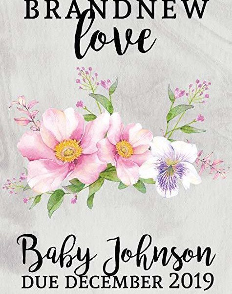 """Brand New Love"" Wine Bottle Label Stickers Pregnancy Announcement, Baby Announcement Wine  -   bwinelabel55"