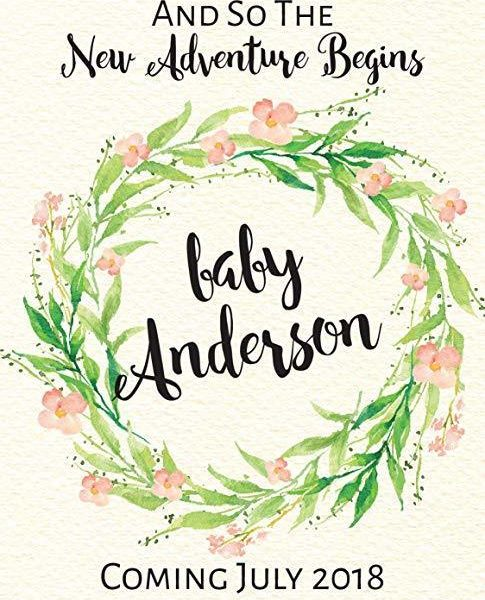 """Baby Shower"" Wine Bottle Label Stickers Pregnancy Announcement, Baby Announcement Wine bwinelabel21"