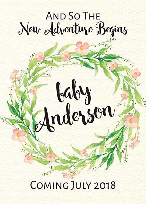 """Baby Shower"" Wine Bottle Label Stickers Pregnancy Announcement, Baby Announcement Wine bwinelabel21"