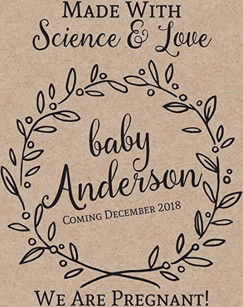 """Made with Science and Love"" Wine Bottle Label Stickers"