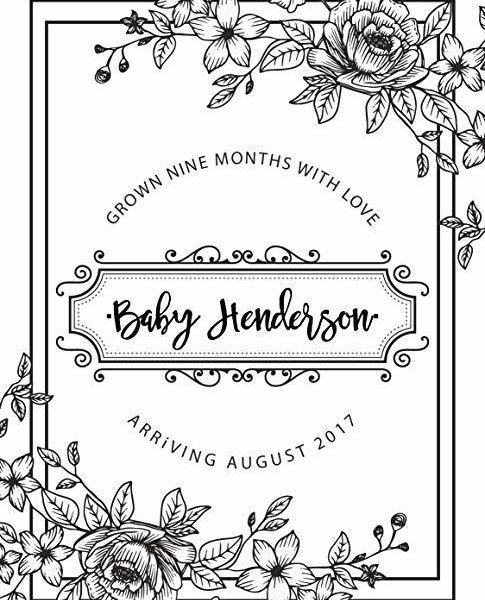 """Nine Months with Love"" Wine Bottle Label Stickers Pregnancy Announcement, Baby Announcement Wine bwinelabel15"
