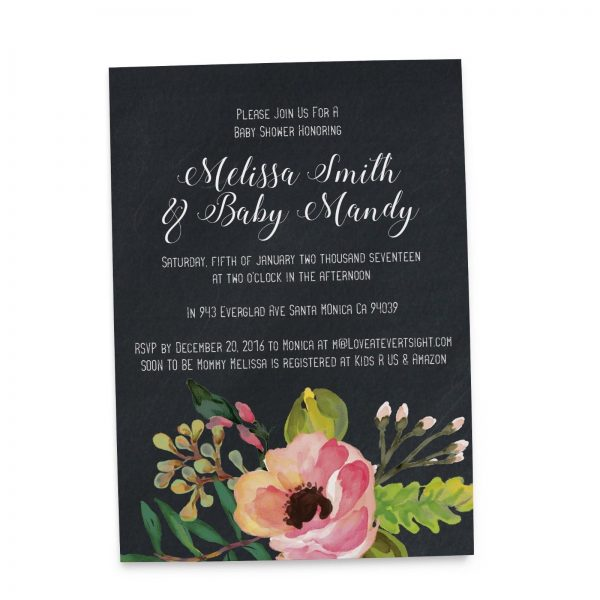 Elegant Design - Baby Shower Party Invitation Cards