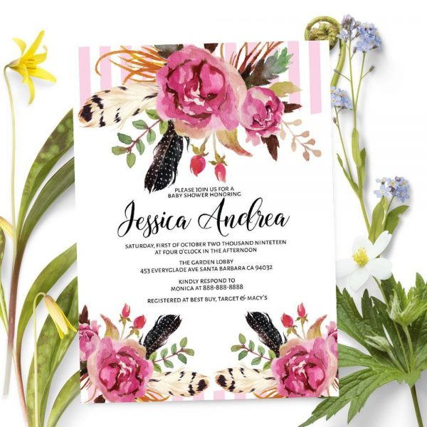Casual Sip and See - Baby Shower Party Invitation Cards