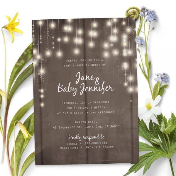 Rustic Theme Design - Baby Shower Party Invitation Cards