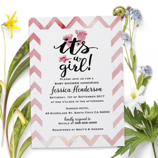 It's a Girl - Baby Shower Party Invitation Cards