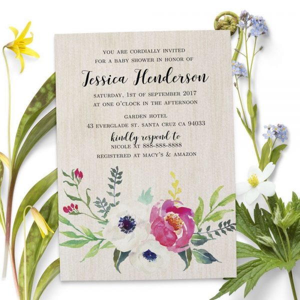 Sip and See - Baby Shower Party Invitation Cards