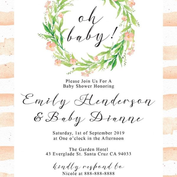 Baby Sprinkle - Baby Shower Party Invitation Cards