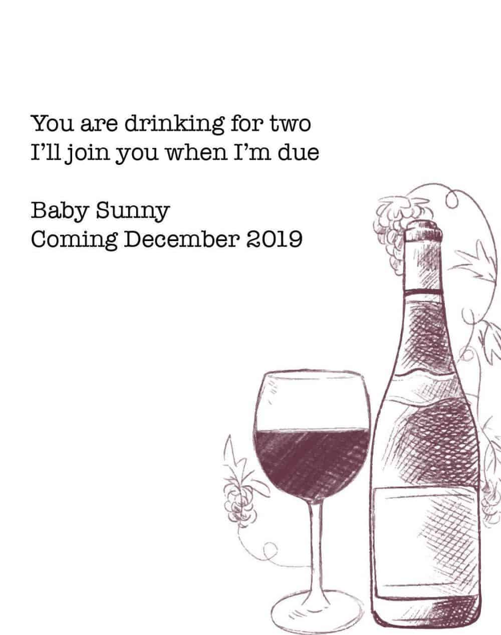 "Pregnancy Baby Announcement Wine Label ""Join you when I'm Due"" by LoveAtEverySight, Customizable Label Stickers bwinelabel96"