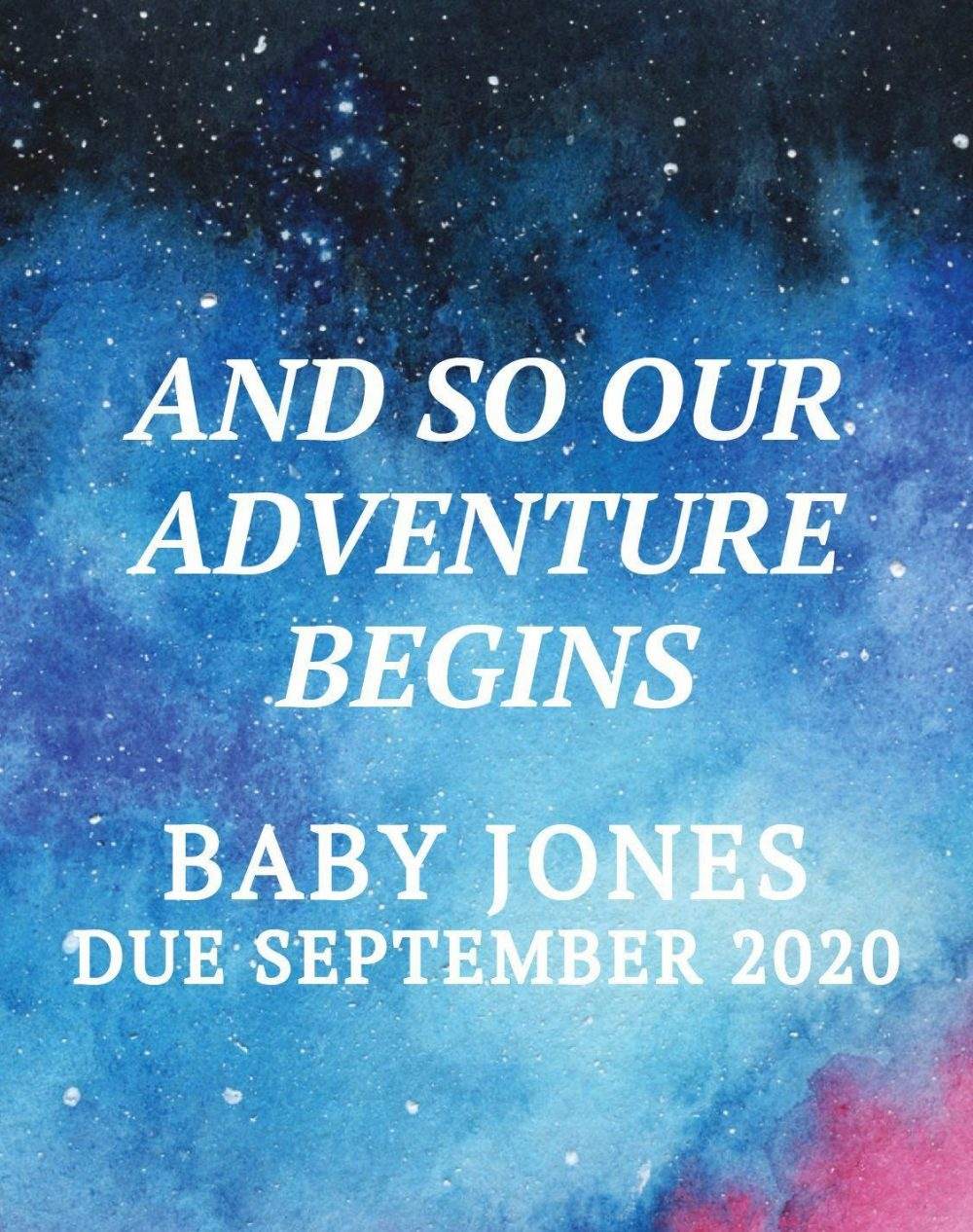 """Pregnancy Announcement Wine Label Stickers, """"and so THE ADVENTURE BEGINS"""", Practical Baby Celebration Custom Label, Miracle bwinelabel143"""