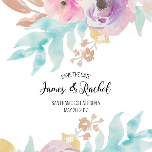 Save the Date Cards, Custom Sping Blossom Save the Date Cards