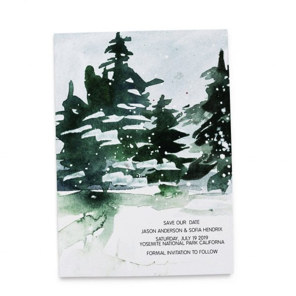 Classic Winter Save the Date Cards, Mountains Save the Date Cards