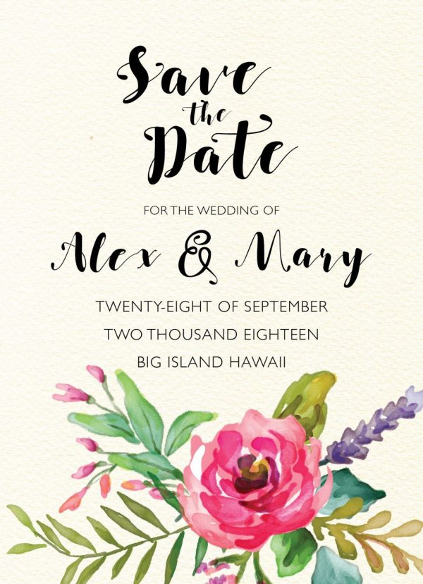 Personalized Save the Date Cards, Vintage Save the Date Wedding Cards