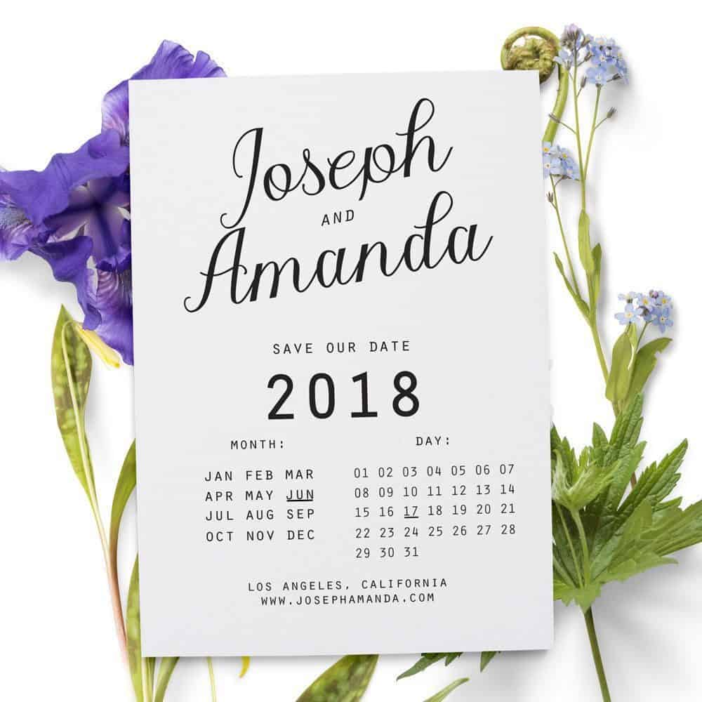 Save the Date Cards, Wedding Simple Save the Date Cards