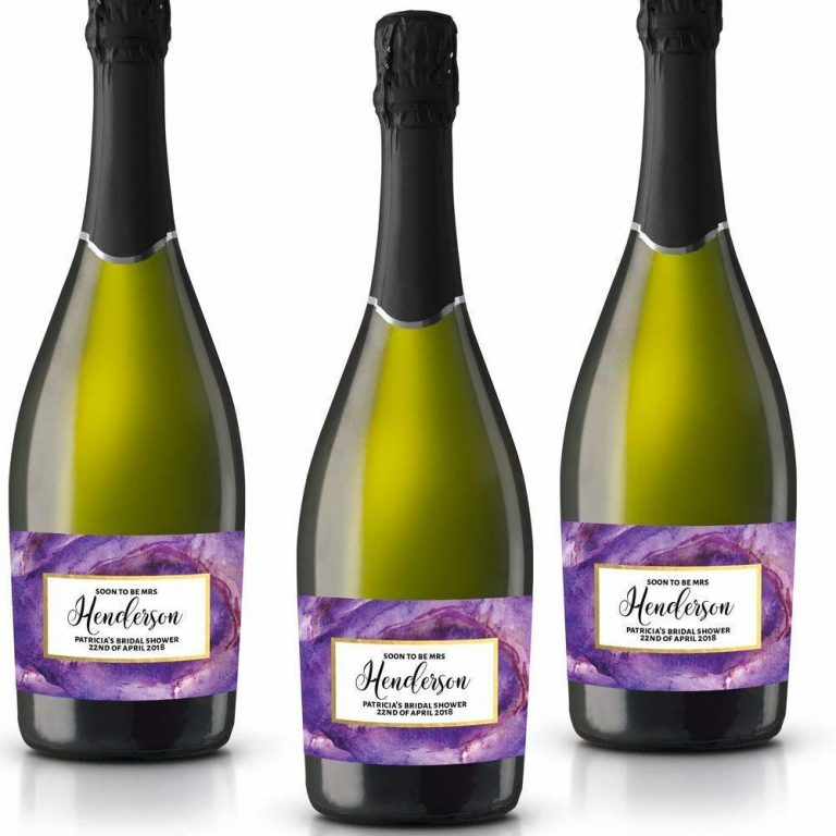 Soon! Personalized Mini Champagne Bottle Label Stickers for Bridal Shower, Bachelorette and Engagement Party