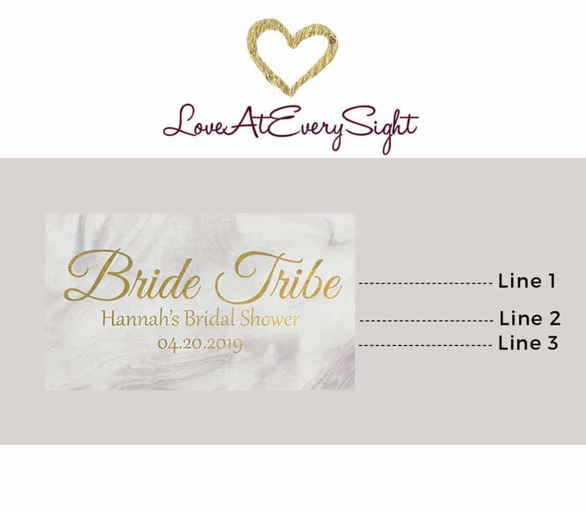Bride Tribe Mini Personalized Mini Champagne Bottle Label Stickers for Bridal Shower, Bachelorette and Engagement Party