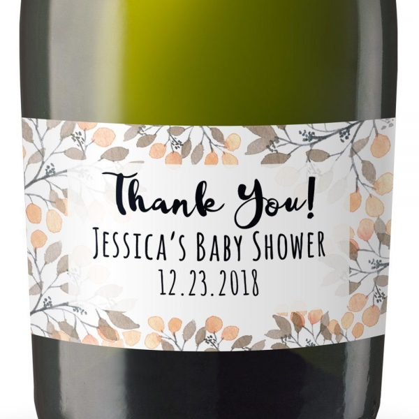 Mini Champagne Bottle Labels for Baby Shower, Baby Shower Mini Champagne Bottle Labels, Custom Champagne Label, MN#20