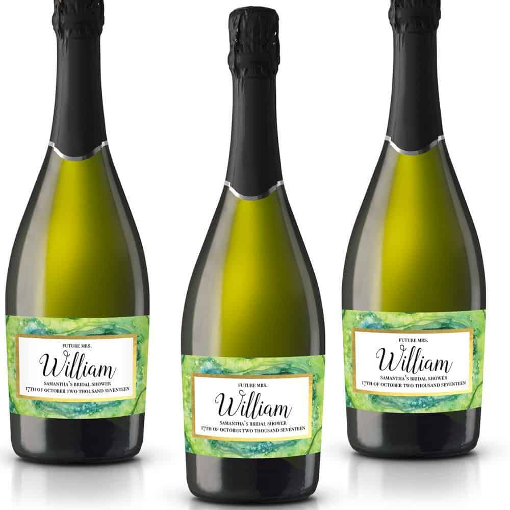 Future Missus Personalized Mini Champagne Bottle Label Stickers for Bridal Shower, Bachelorette and Engagement Party