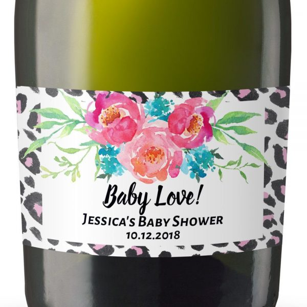 Mini Champagne Bottle Labels for Baby Shower, Baby Shower Mini Champagne Bottle Labels, Custom Champagne Label, MN#23