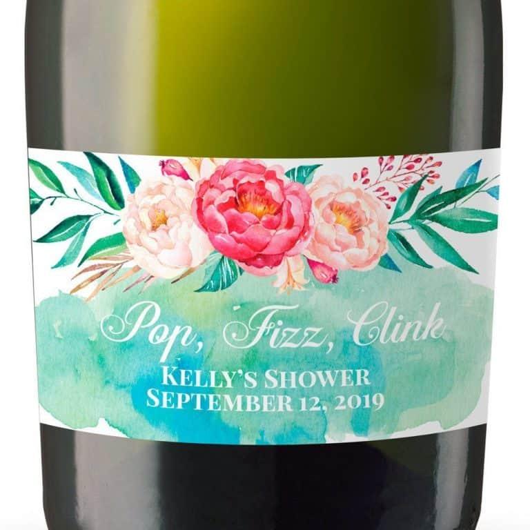 Mini Champagne Bottle Labels for Bridal Shower, Bridal Shower Mini Champagne Bottle Labels, Custom Champagne Label MN#101