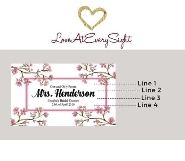 One and Only Personalized Mini Champagne Bottle Label Stickers for Bridal Shower, Bachelorette and Engagement Party