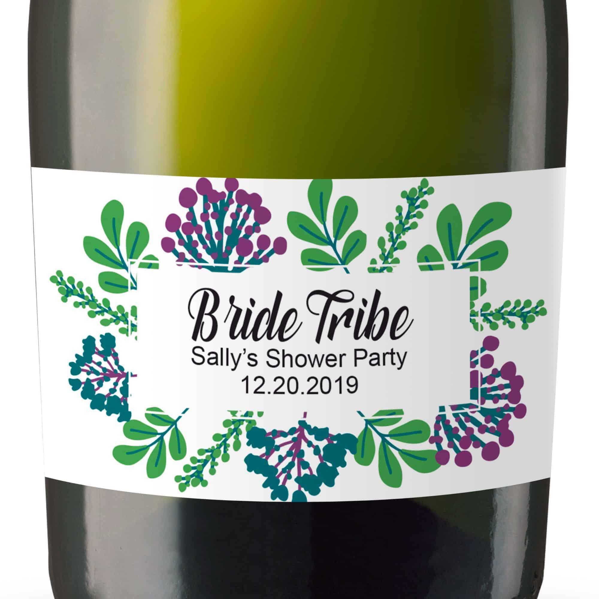 Mini Champagne Bottle Labels for Bridal Shower, Bridal Shower Mini Champagne Bottle Labels, Custom Champagne Label MN#109