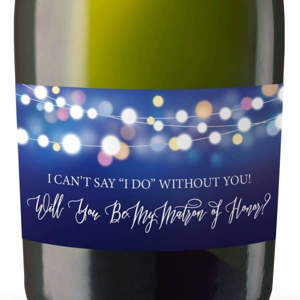 Rustic Will you be my bridesmaid stickers, Will you be my maid of honor, will you be my matron of honor, mini champagne bottle labels 115