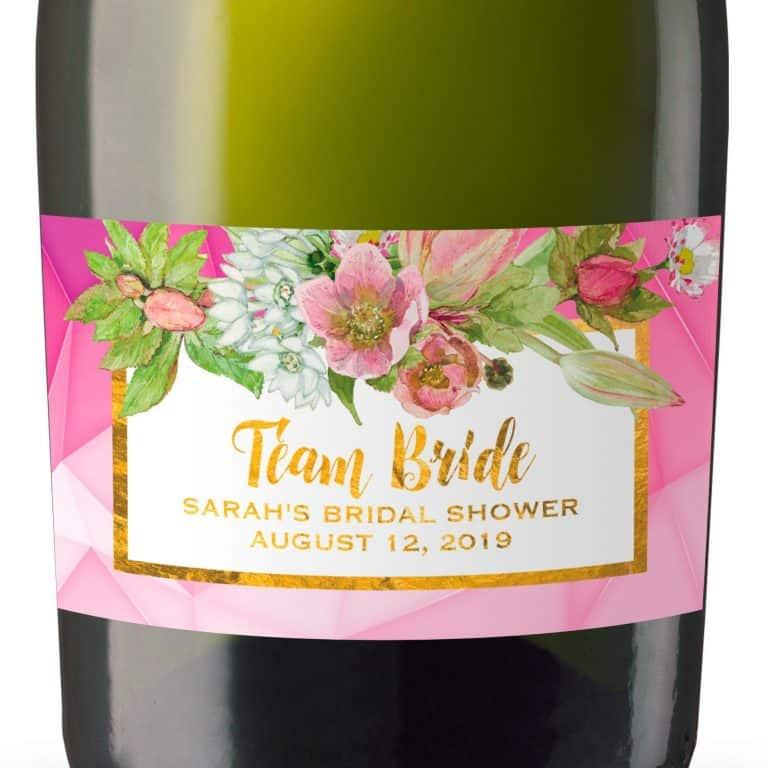 Mini Champagne Bottle Labels for Bridal Shower, Bridal Shower Mini Champagne Bottle Labels, Custom Champagne Label MN#99