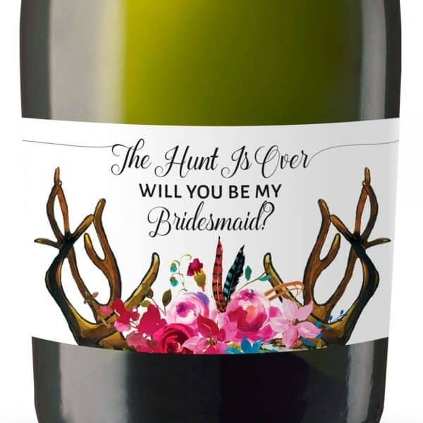 Will you be my bridesmaid stickers, Will you be my maid of honor, will you be my matron of honor, mini champagne bottle labels 104
