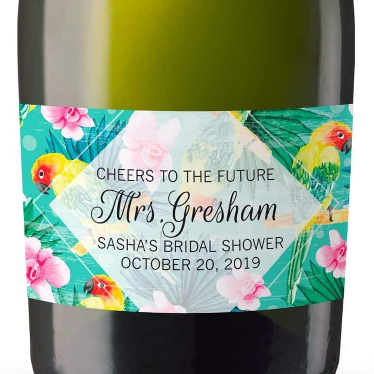 Mini Champagne Bottle Labels for Bridal Shower, Bridal Shower Mini Champagne Bottle Labels, Custom Champagne Label MN#118