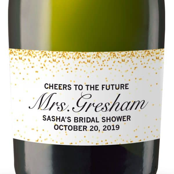 Cheers to the future Mini Champagne Bottle Labels for Bridal Shower, Bridal Shower Mini Champagne Bottle Labels, Custom Label MN#119