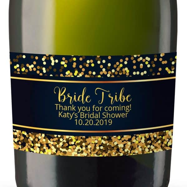 Bride Tribe Mini Champagne Bottle Labels for Bridal Shower, Bridal Shower Mini Champagne Bottle Labels, Custom Champagne Label MN#121