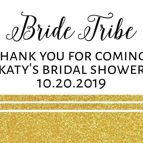 Bride Tribe Mini Champagne Bottle Labels for Bridal Shower, Bridal Shower Mini Champagne Bottle Labels, Custom Champagne Label MN#123