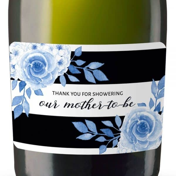 Mother-to-be Mini Champagne Bottle Label Stickers for Baby Shower Party Favors, Set of 20, Thank You Favors mn145