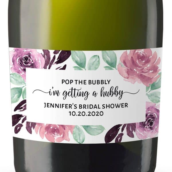 Pop the Bubbly...!, Mini Champagne Bottle Labels for Bridal Shower, Bridal Shower Mini Champagne Bottle Labels, Custom Champagne Label mn165