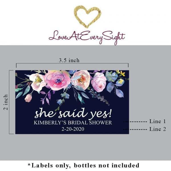 Mini Champagne Bottle Labels for Bridal Shower, Custom Bridal Shower Mini Champagne Label, Personalized Mini Champagne Label mn196