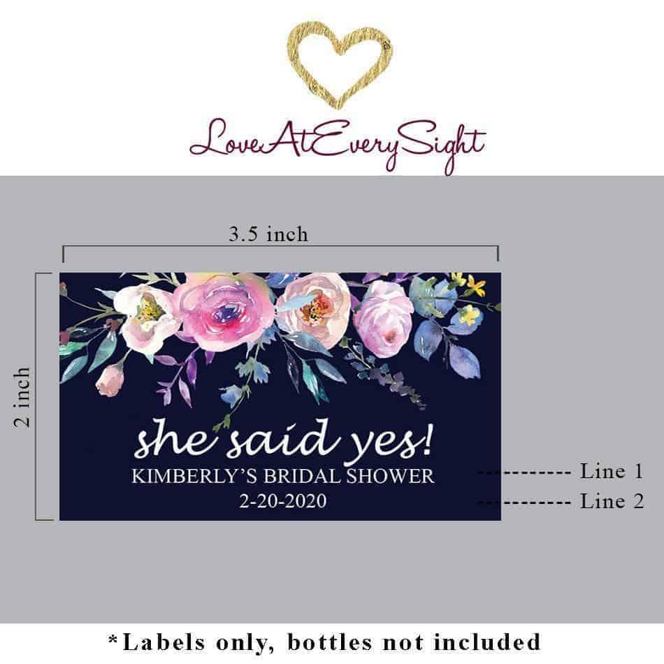 Mini Champagne Bottle Labels for Bridal Shower, Custom Bridal Shower Mini Champagne Label, Personalized Mini Champagne Label mn196