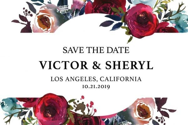 Marriage Save the Date Postcards, Wedding Save the Date Postcards, Save the Date Cards, Calendar Save the Date- Amazing Rose Floral Design