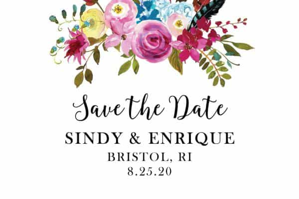 Marriage Save the Date Postcards, Wedding Save the Date Postcards, Save the Date Cards, Calendar Save the Date- Brilliant Bright Floral Design