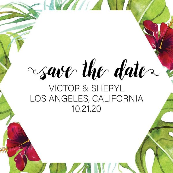 Save the Date Postcards, Wedding Save the Date Postcards, Save the Date Cards, Green Floral Design, Calendar Save the Date- Floral Motif Design