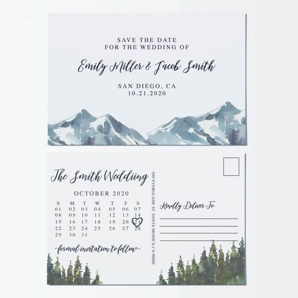Lovely Wedding Save the Date Postcards, Save the Date Marriage Announcement Postcards,Wedding Announcements- Beautiful Nature Design