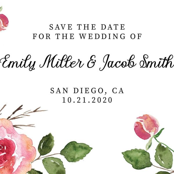 Vintage Save the Date Postcards, Save the Date Wedding Announcement Postcards, Marriage Announcements- Floral Design