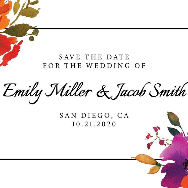 Personalized Save the Date Postcards, Save the Date Wedding Announcement Postcards, Marriage Announcements- Spring Theme