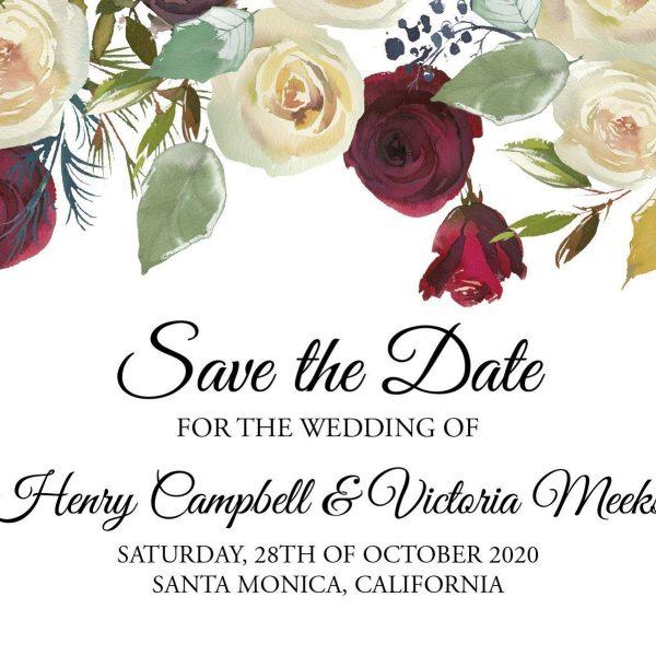 Unique Wedding Save the Date Postcards, Save the Date Wedding Announcement Postcards, Marriage Notice- Wonderful Floral Theme