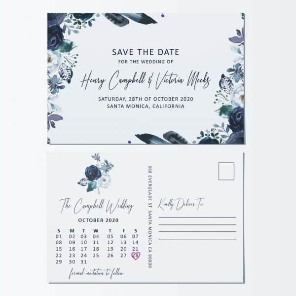 Marriage Save the Date Postcards, Save the Date Wedding Announcement Postcards, Marriage Notice, Phenomenal Floral Theme
