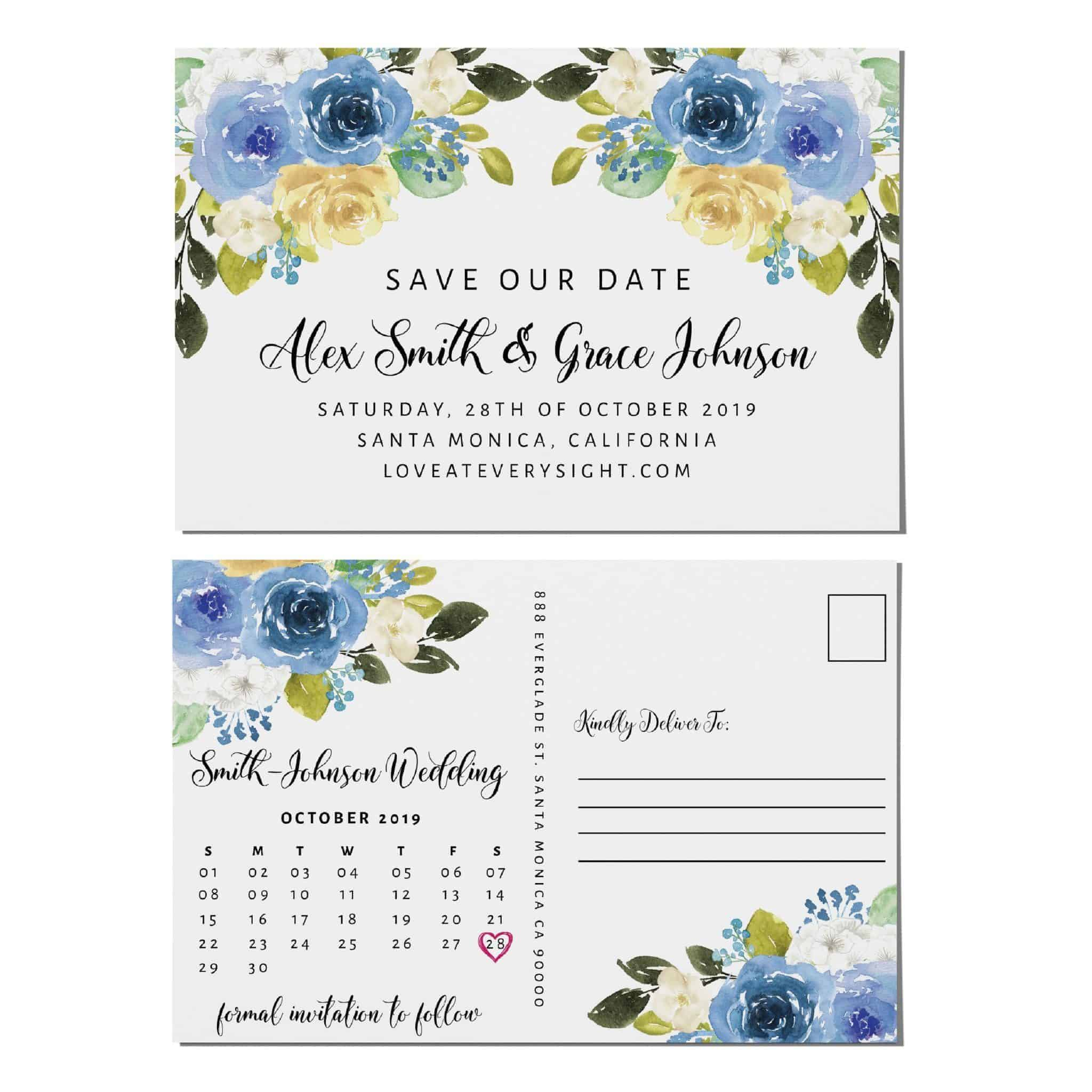 Save the Date Wedding Announcement Postcards, Wedding Save the Date Postcards, Calendar Announcement for Friends Save the Date Cards