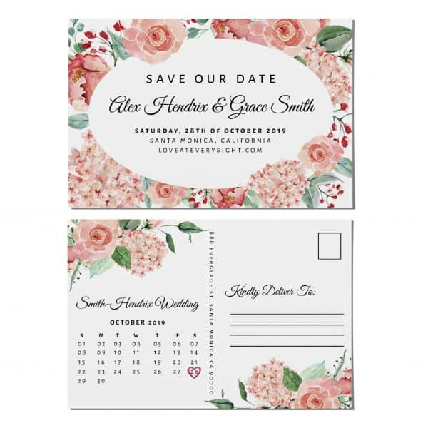 Wedding Calendar Announcement Postcards, Wedding Save the Date Postcards, Save the Date Announcement for Friends Save the Date Cards