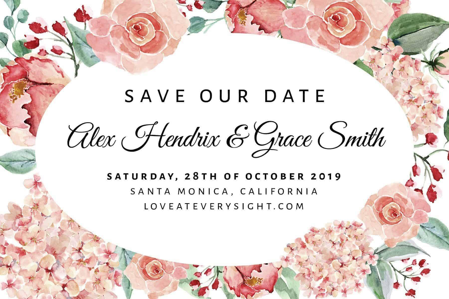 Wedding Calendar Announcement Postcards, Wedding Save the Date Postcards, Save the Date Announcement for Friends Save the Date Cards