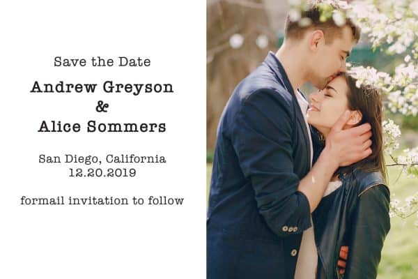 "Simple Wedding Save the Date Postcards, ""I have found the one whom my soul loves"", Wedding Save the Date Post Cards, Save the Date Cards"