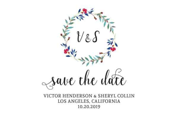 Save the Date Wedding Postcard. Wedding Calendar Save the Date, Vintage Wedding Save the Date Cards- Nature Design